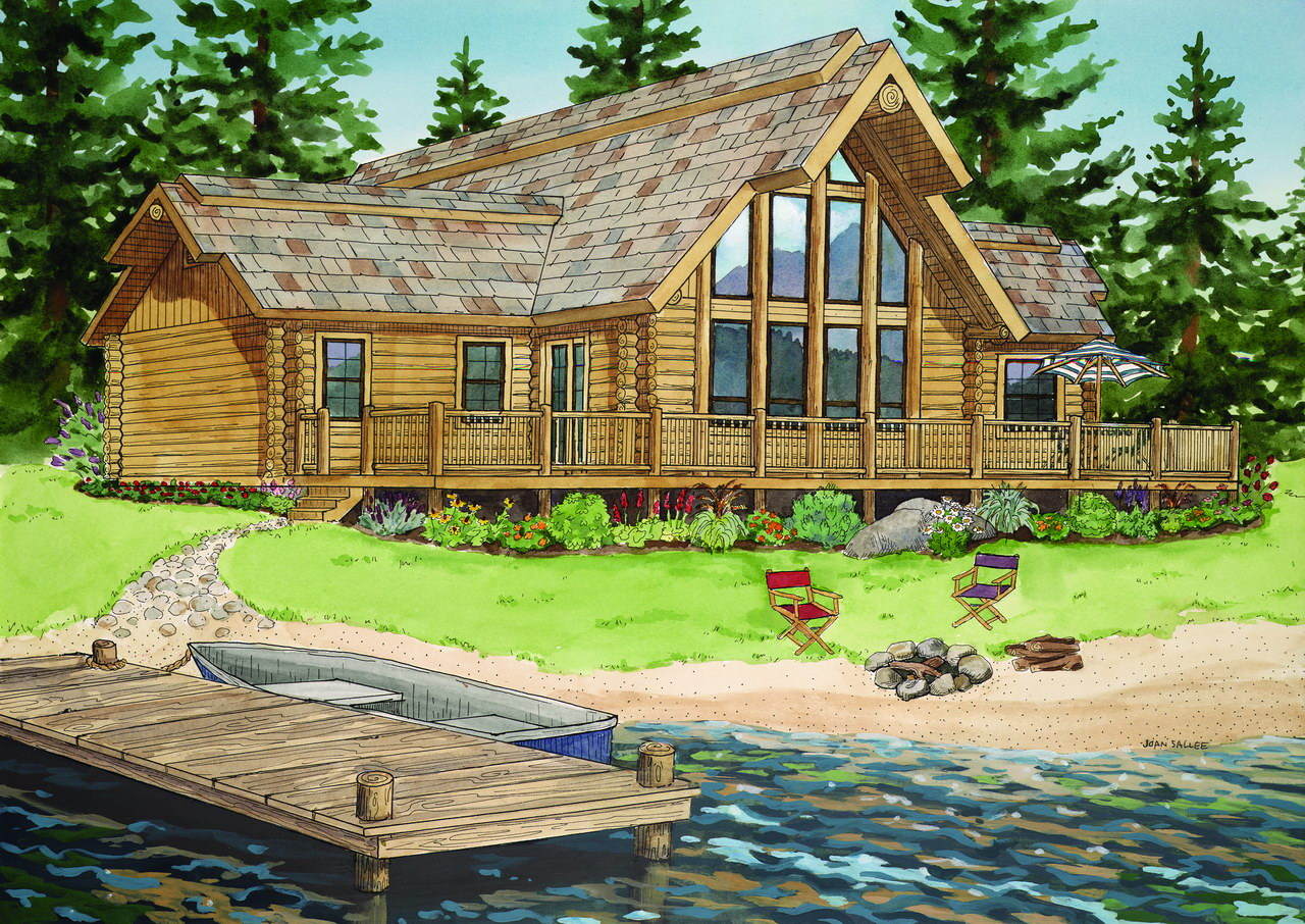 The lakewood dependable contracting for Ranch style log cabins
